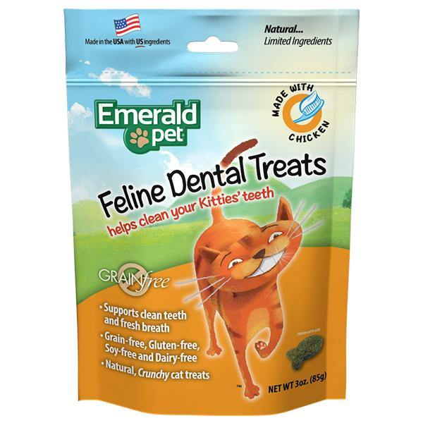 Emerald Cat Dental Treat 3oz - Chicken front