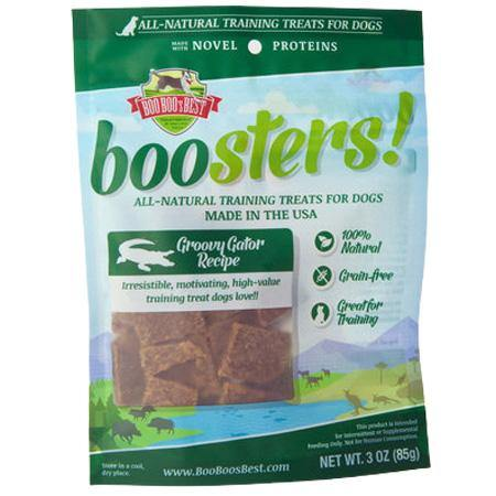 Boo Boo's Best Boosters! Groovy Gator & Wild Salmon Recipe Dogs Treats (3-oz bag)