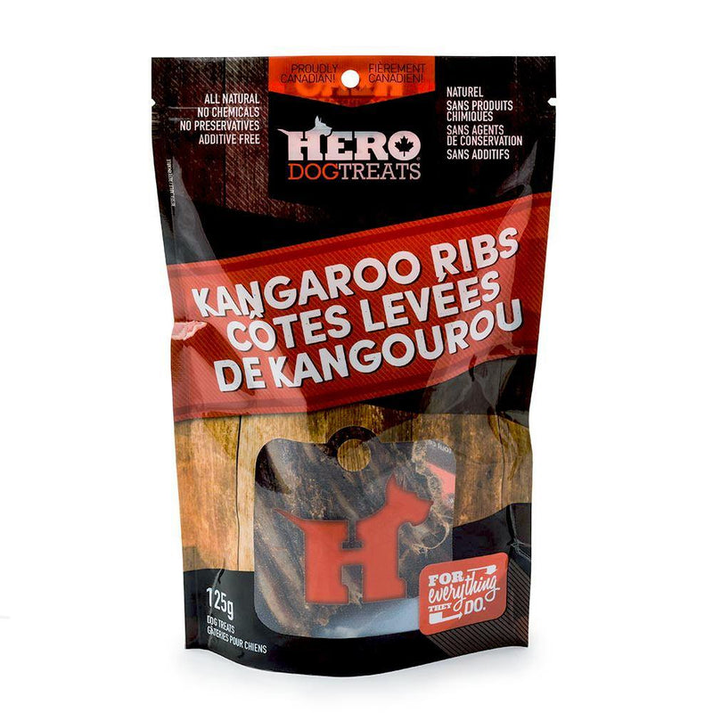 HERO Kangaroo Ribs Dehydrated Dog Treats (125-g bag)