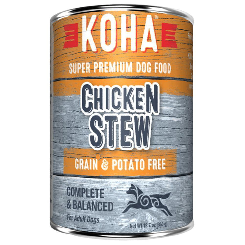 KOHA Chicken Stew Grain-Free Canned Dog Food (12.7-oz can, case of 12)