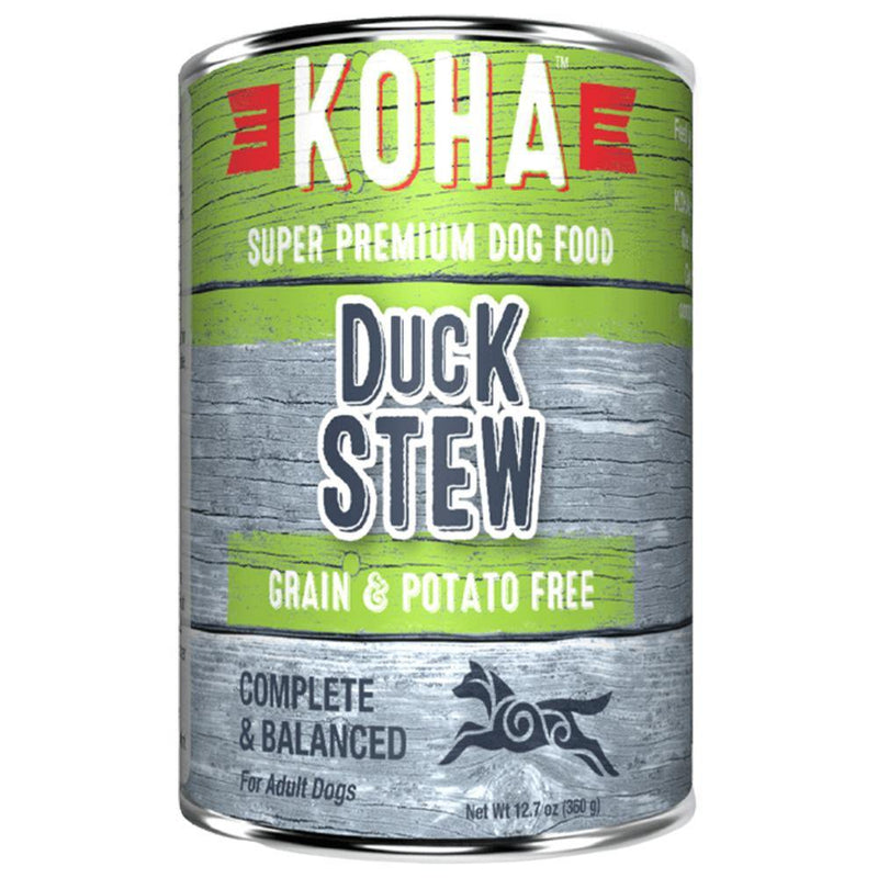 KOHA Duck Stew Grain-Free Canned Dog Food (12.7-oz can, case of 12)