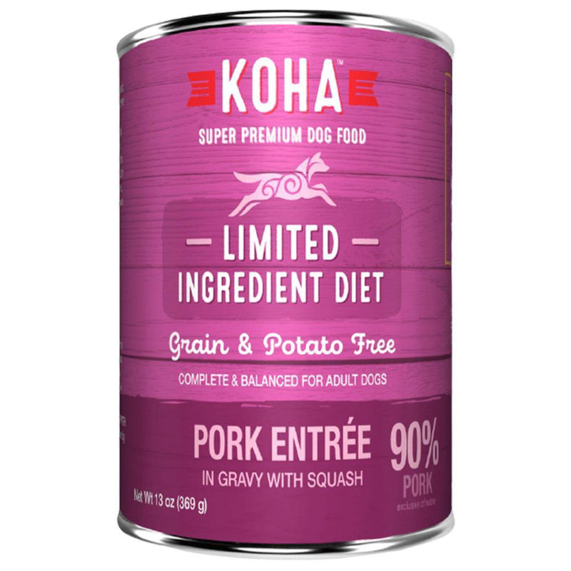KOHA Limited Ingredient Diet Pork Entrée Grain-Free Canned Dog Food (13-oz can, case of 12)