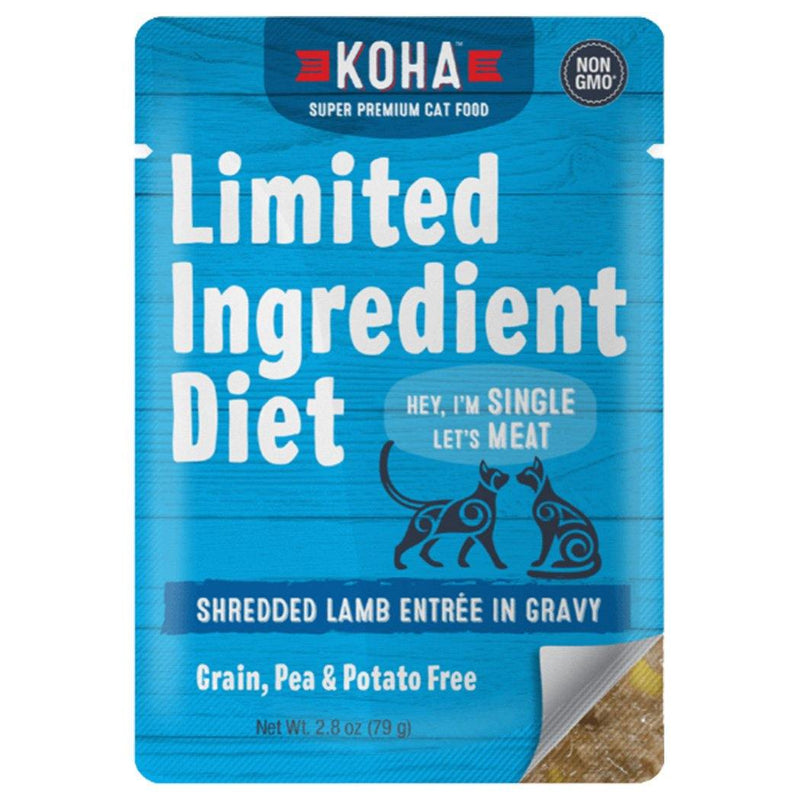 KOHA Limited Ingredient Diet Shredded Lamb Entrée in Gravy Cat Food (2.8-oz pouch, case of 24)