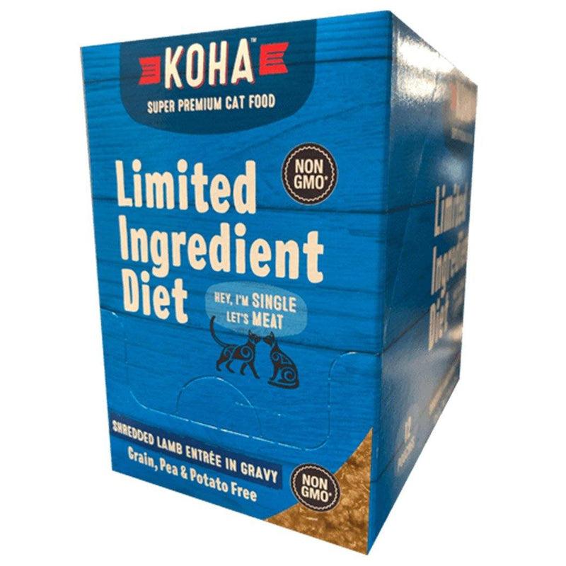 KOHA Limited Ingredient Diet Shredded Lamb Entrée in Gravy Canned Cat Food (2.8-oz pouch, case of 24)