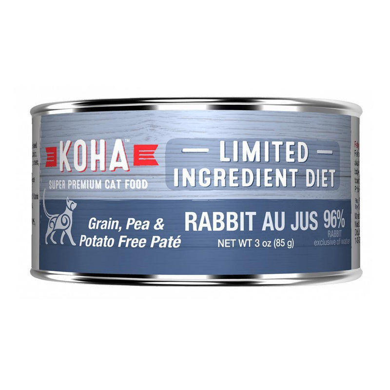 KOHA Limited Ingredient Diet Rabbit Pâté Grain-Free Canned Cat Food- 3 oz