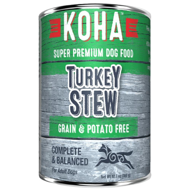 KOHA Turkey Stew Grain-Free Canned Dog Food (12.7-oz can, case of 12)