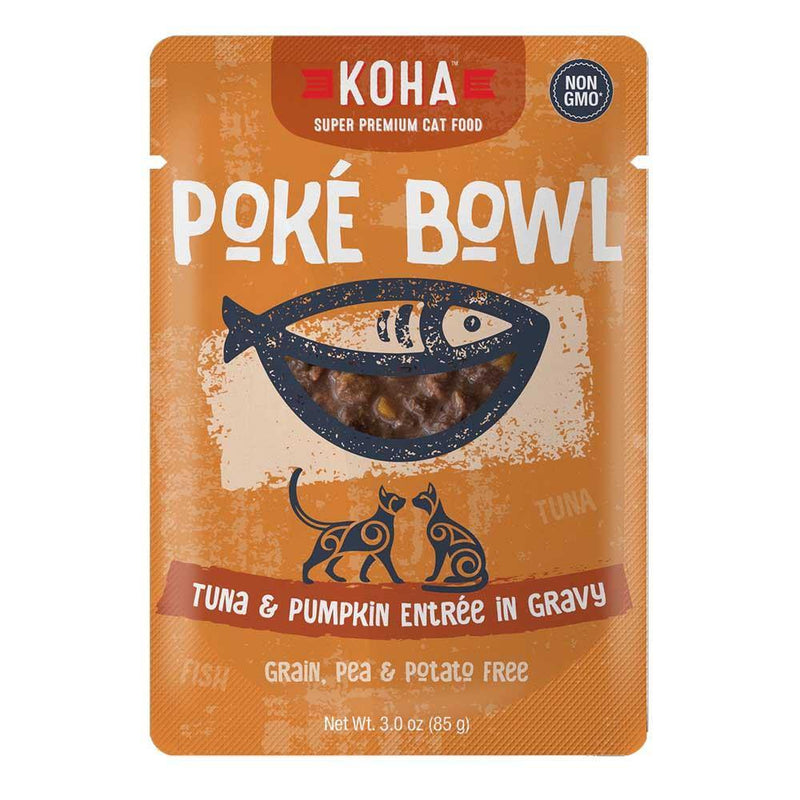 KOHA Poké Bowl Tuna & Pumpkin Entrée in Gravy Grain-Free Cat Food (3.0-oz pouch, case of 24)