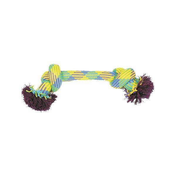 Mammoth Flossy Chew Extra Rope Dog Toy (Large 14'', 2 knots, color varies)