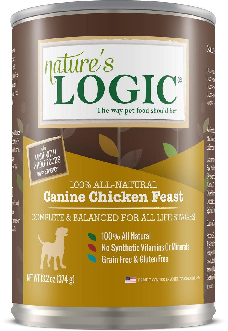 Nature's Logic Canine Chicken Feast Grain-Free Canned Dog Food (13.2-oz, case of 12)