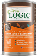 Nature's Logic Canine Duck & Salmon Feast Grain-Free Canned Dog Food (13.2-oz, case of 12)