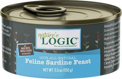 Nature's Logic Feline Sardine Feast Grain-Free Canned Cat Food (5.5-oz, case of 24)