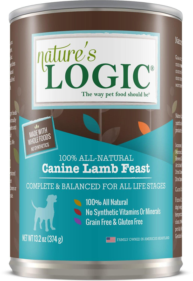 Nature's Logic Canine Lamb Feast Grain-Free Canned Dog Food (13.2-oz, case of 12)