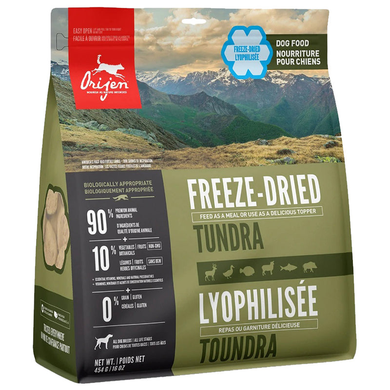 ORIJEN Tundra Freeze-Dried Dog Food (16 oz)