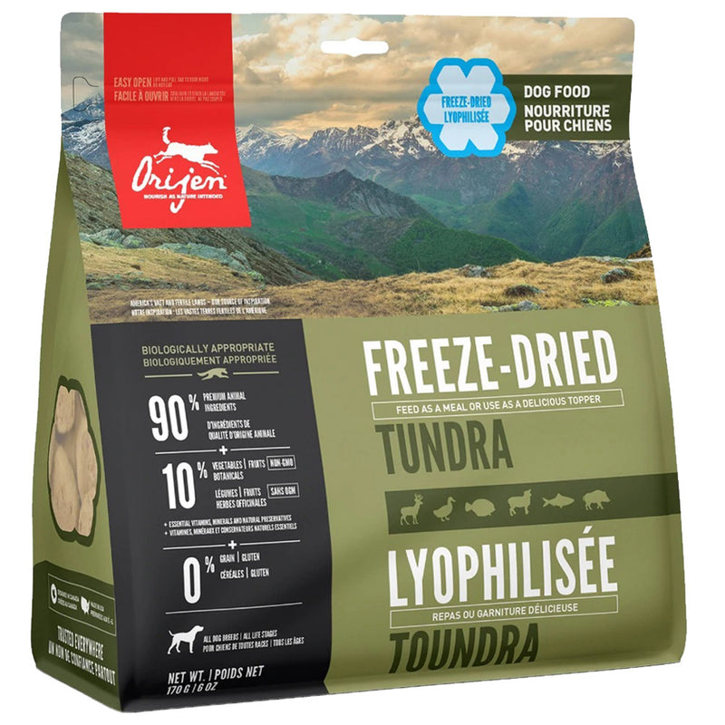 ORIJEN Tundra Freeze-Dried Dog Food (6 oz)