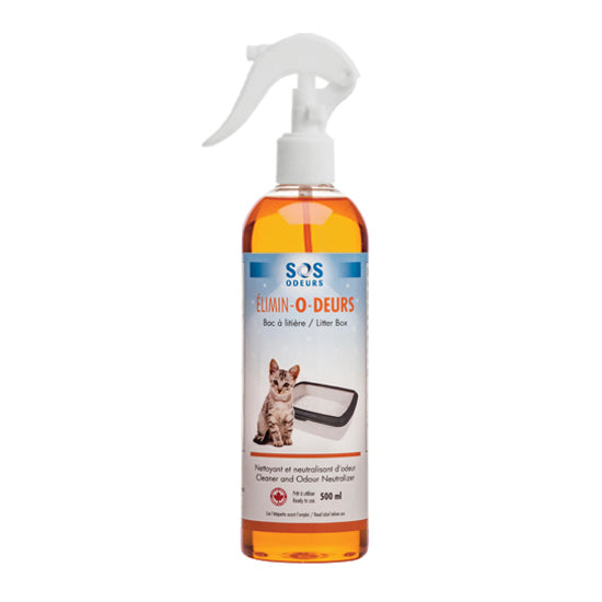 SOS Odors Elimin-O-Deurs Cleaner and Odour Neutralizer for Litter Box (120-ml spray)
