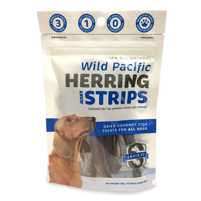 Snack 21 Treats Wild Pacific Herring Strips Jerky Dog Treat (0.88-oz bag)