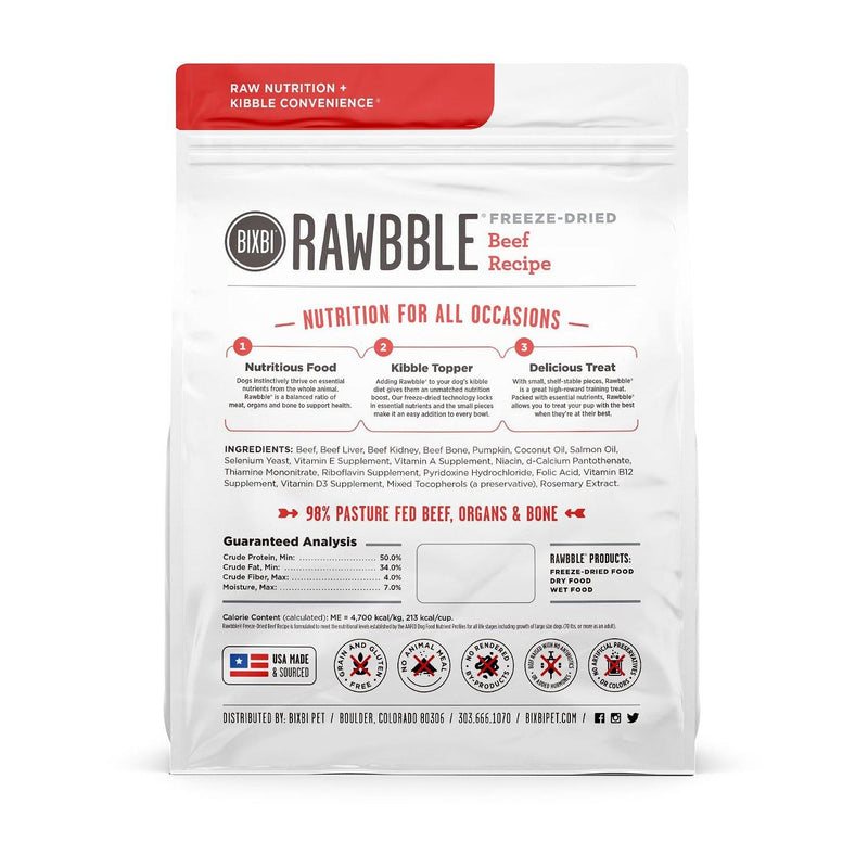 BIXBI RAWBBLE Beef Recipe Freeze-Dried Dog Food