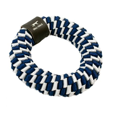 "Tall Tails Navy Braided Rope Dog Toy (6"" Ring)"