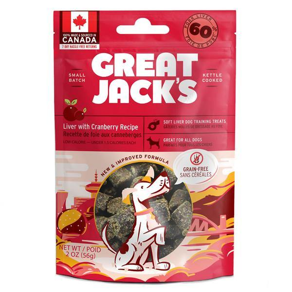 Great Jack's Liver with Cranberry Recipe Grain-Free Dog Treats