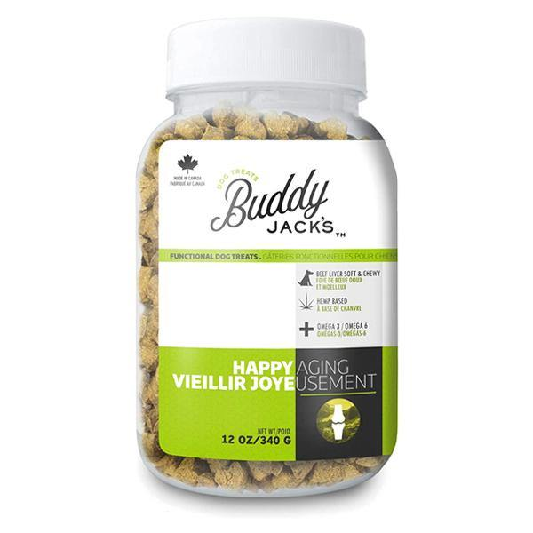 Buddy Jack's Hemp Functional Dog Treats - Happy Aging (12-oz container)