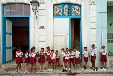 Local school kids between lessons Havana Cuba