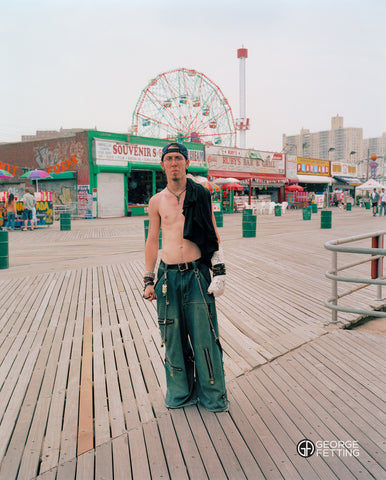 Street local Angel Coney Island board walk