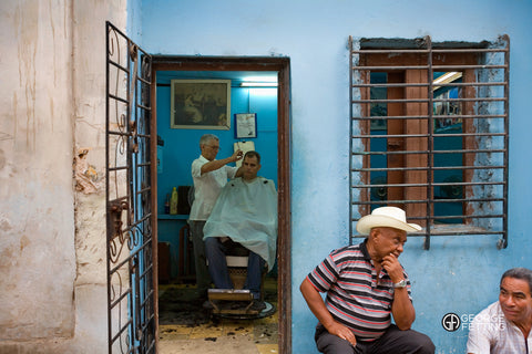 Back street barber shop Havana