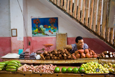 Beautiful colours fruit stall Havana