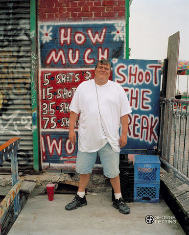 Sal the Coney Island side show vendor Shoot the freak