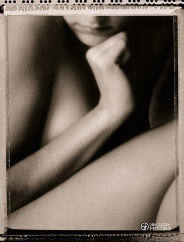 Nude gril photographed with Polaroid film