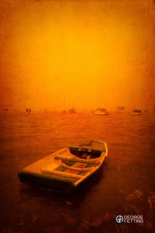 A once in a lifetime dust storm blankets Sydney in a ghostly warm glow.