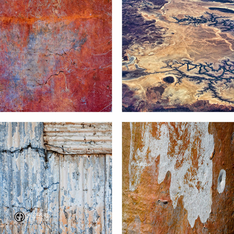 A collection of 4 beautiful outback abstractions