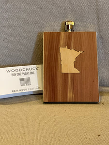 Woodchuck USA State Inlay Wood Flasks