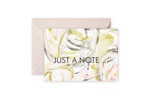 JUST A NOTE Blush Cream Abstract Notecards