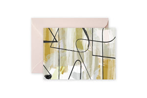 Grey Gold Abstract Notecards