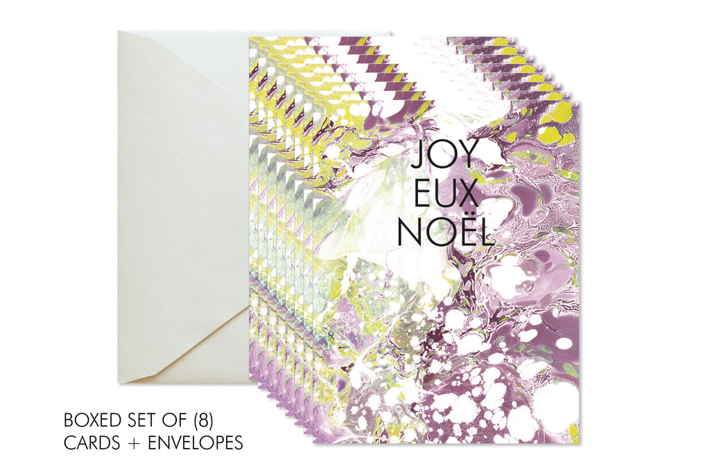 JOYEUX NOEL Boxed Set Christmas | Holiday Marble Greeting Card
