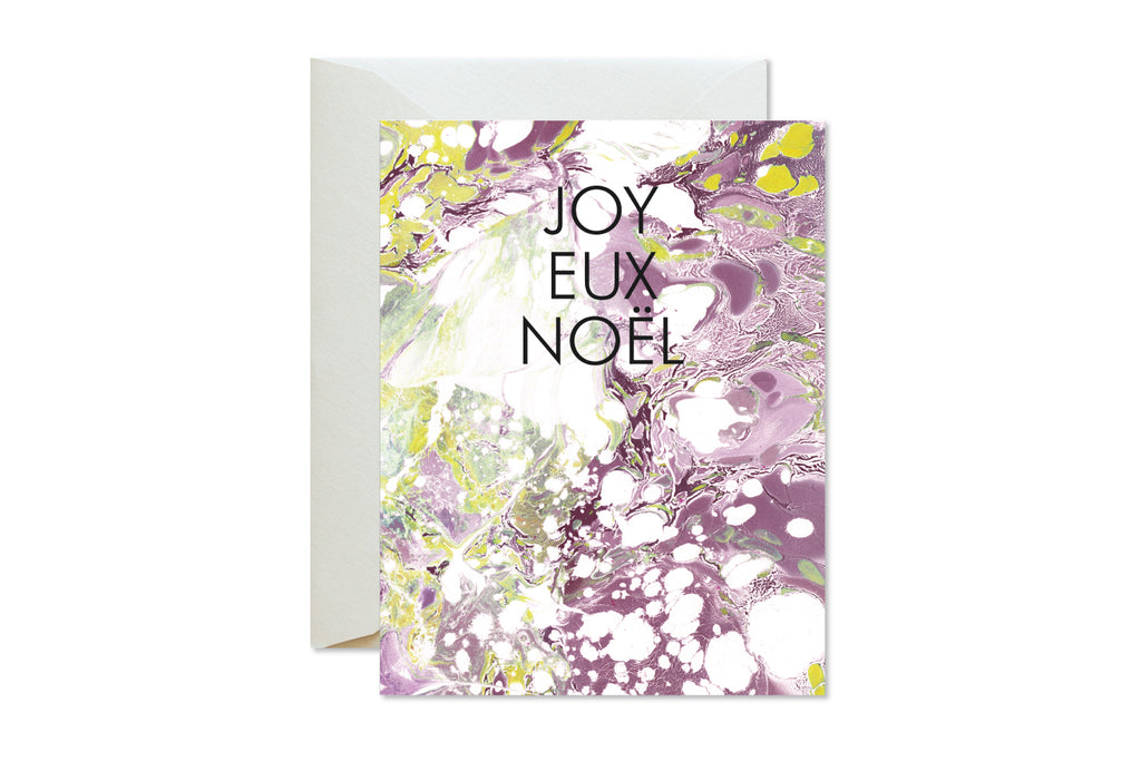 JOYEUX NOEL Christmas | Holiday Marble Greeting Card