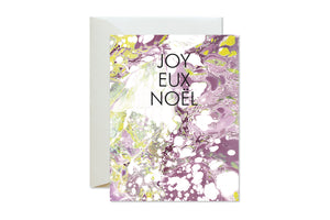 JOYEUX NOEL Holiday Marble Card