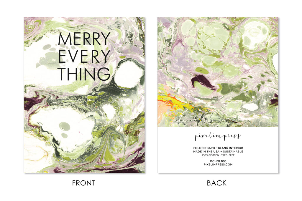 MERRY EVERYTHING Christmas | Holiday Marble Greeting Card