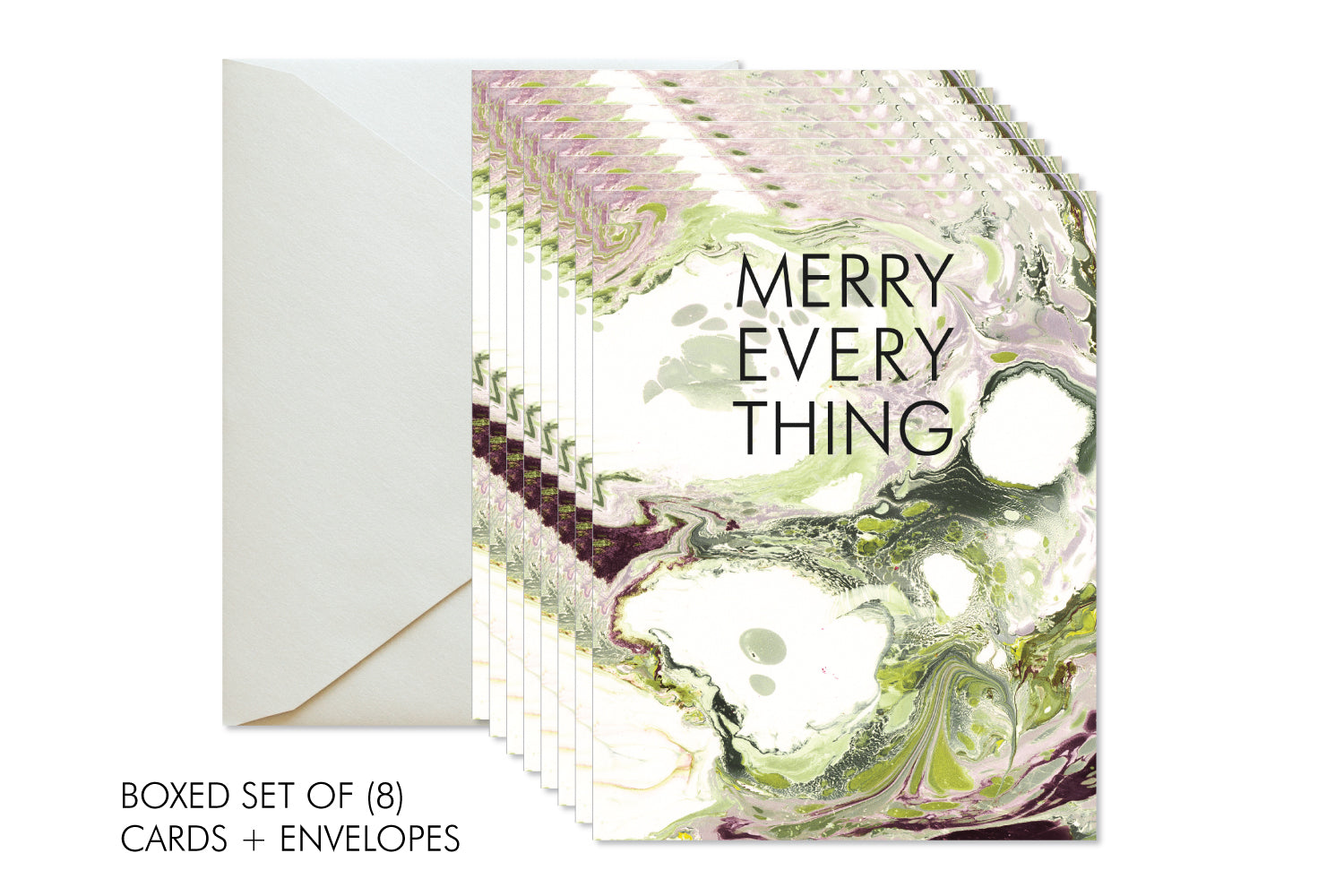 MERRY EVERYTHING Boxed Set Christmas | Holiday Marble Greeting Cards ...