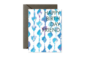 Aqua Knots Happy Birthday Friday Greeting Card by pixelimpress