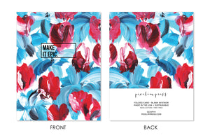 MAKE IT EPIC Blue and Red Floral Card
