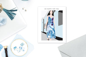 MARBLE DRESS Greeting Card LIFESTYLE