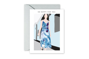 SO HAPPY FOR YOUR Marble Dress Greeting Card