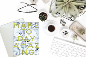 MAKE TODAY AMAZING Indigo Marble Card