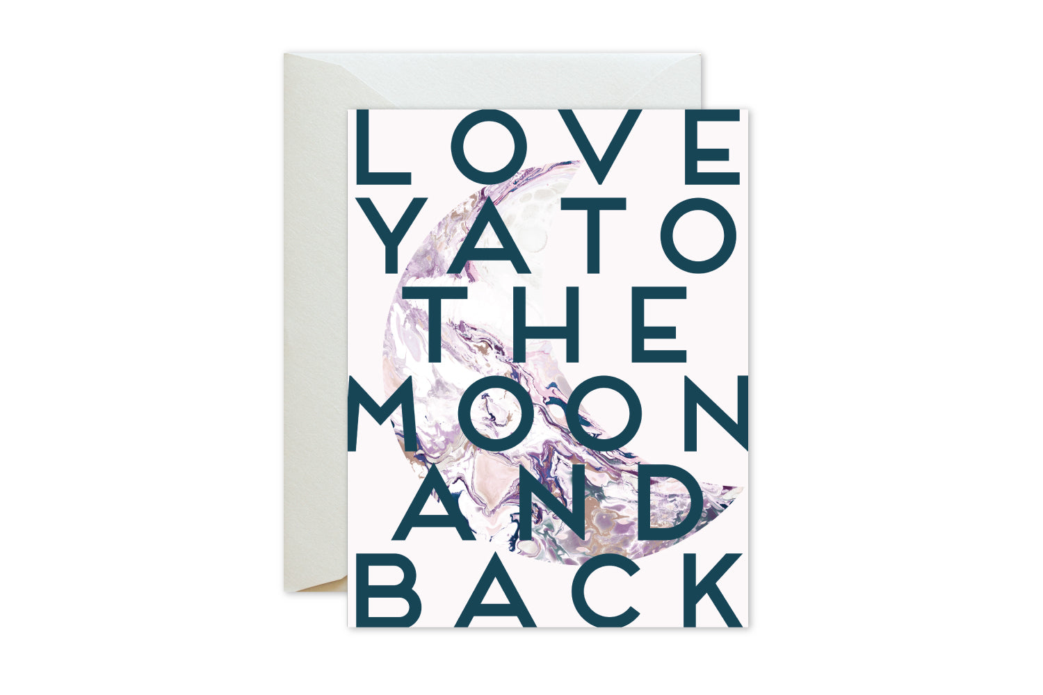 Love ya to the moon and back blush pink marble greeting card love ya to the moon and back greeting cards valentines day by pixelimpress m4hsunfo
