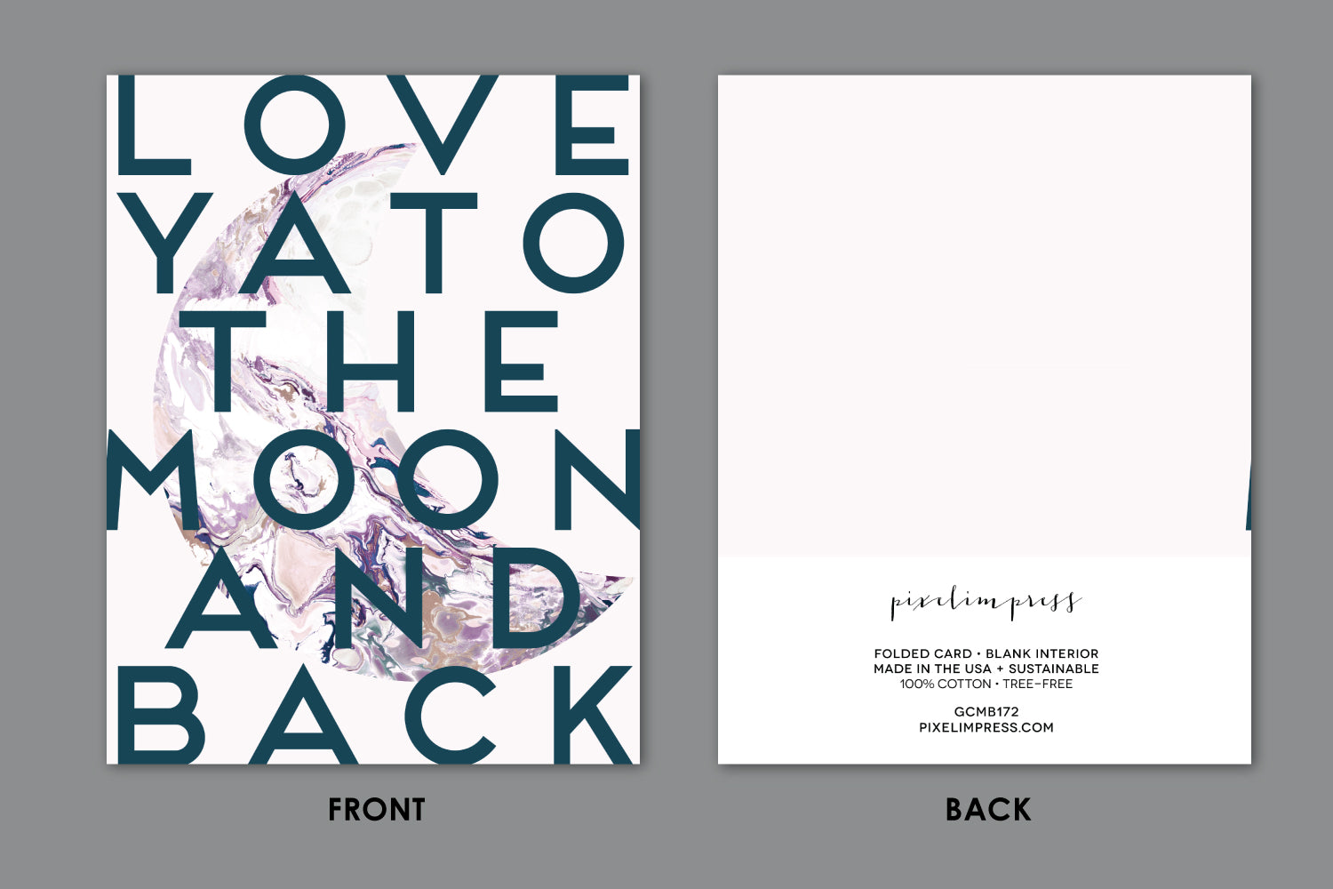 Love ya to the moon and back blush pink marble greeting card love ya to the moon and back blush pink marble greeting card m4hsunfo