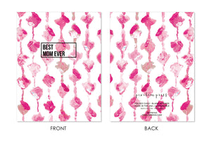 Best Mom Ever Handpainted Greeting Card front + back by pixelimpress