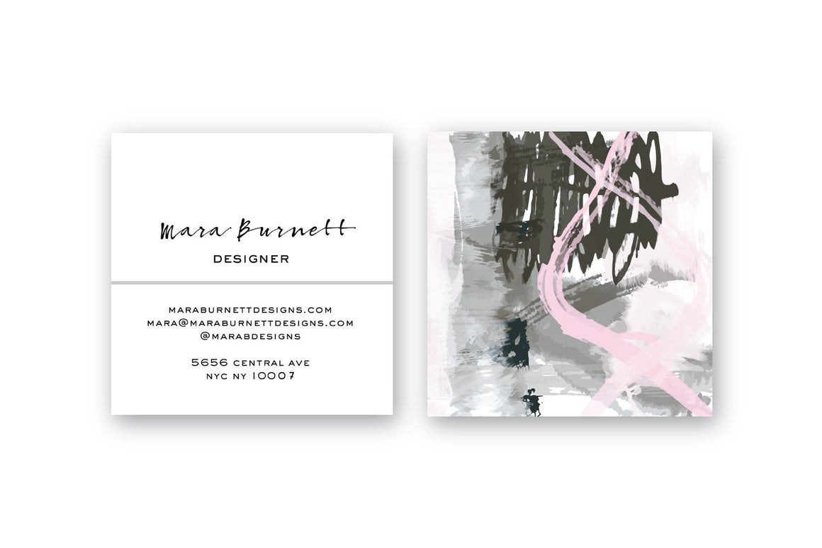 Abstract #10 Calling Cards Blush Taupe