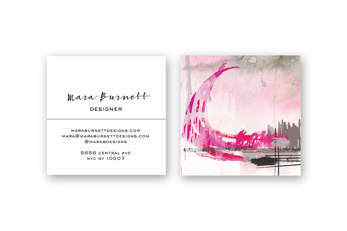 Abstract #12 Calling Cards | Blogger Cards | Square Calling Cards